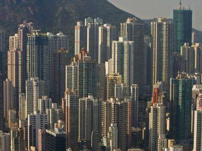 Vista panorámica de Hong Kong.