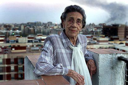 Trinidad Gallego, testigo del robo de niños de familias represaliadas por el franquismo, en 2002.