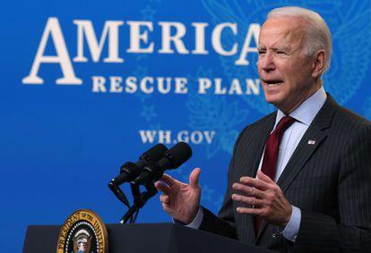 El presidente de EE UU, Joe Biden, este lunes en Washington.