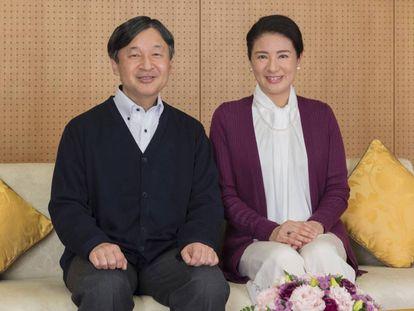 Fotografía oficial del príncipe heredero Naruhito y la princesa Masako.