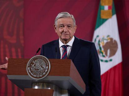 Andrés Manuel López Obrador, en su rueda de prensa de este miércoles.
