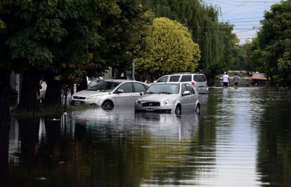 Inundaciones en la ciudad argentina de La Plata.