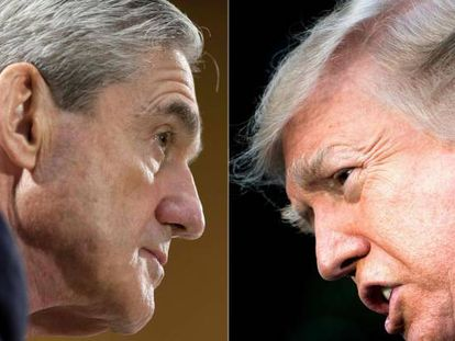 El fiscal especial Robert S. Mueller, a la izquierda, y Donald Trump, en imágenes de archivo.