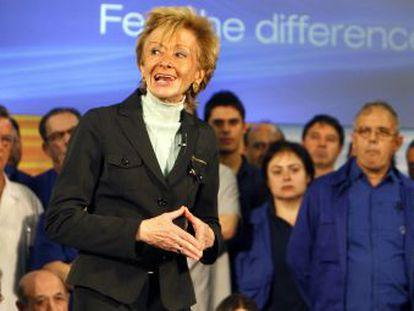 María Teresa Fernández de la Vega en un acto electoral de la campaña para las elecciones de 2008.