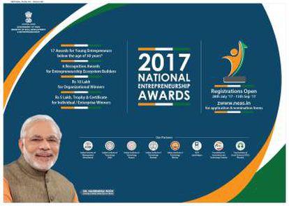 Anuncio promocional de los Premios Nacionales de Emprendimiento