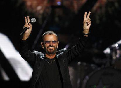 Ringo Starr, durante una actuación en Cleveland, Ohio, el pasado 18 de abril.