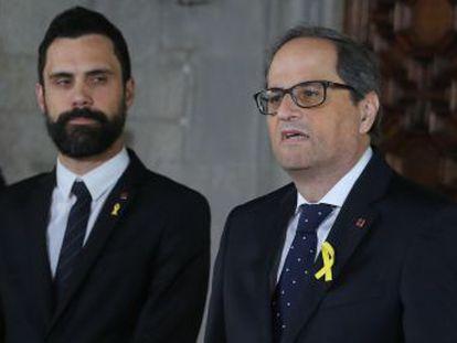 El Gobierno declina asistir a la toma de posesión del líder de la Generalitat, que duró menos de tres minutos