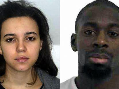 Fotografías de Hayat Boumeddiene y su pareja, Amedy Coulibaly, distribuidas por la policía francesa tras los atentados de enero de 2015
