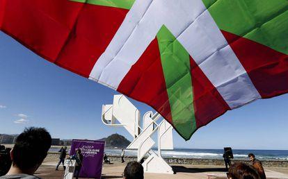 Celebración el pasado 27 de marzo del Día de la patria vasca (Aberri Eguna) en San Sebastián.