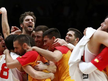 España celebra la victoria en el Eurobasket 2015