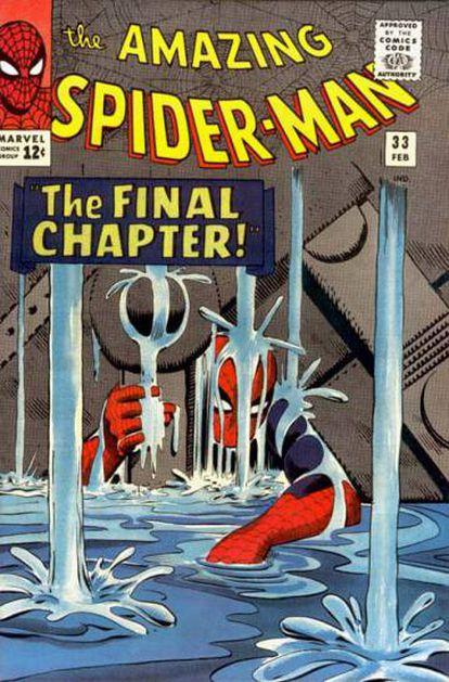Uno de los cómics de Spiderman de Steve Ditko.