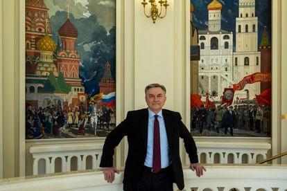 Yuri Korchagin, embajador de Rusia en España, en la sede de legación en Madrid.