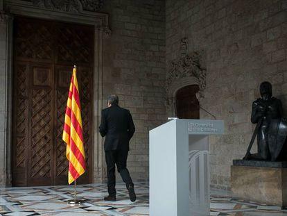 Quim Torra, en el Palau de la Generalitat.