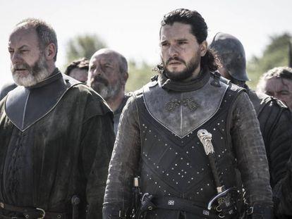 Kit Harington, en el papel de Jon Nieve, en 'Juego de tronos'