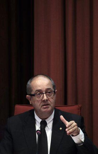 El consejero de Interior de la Generalitat, Felip Puig, en una intervención en el Parlament.