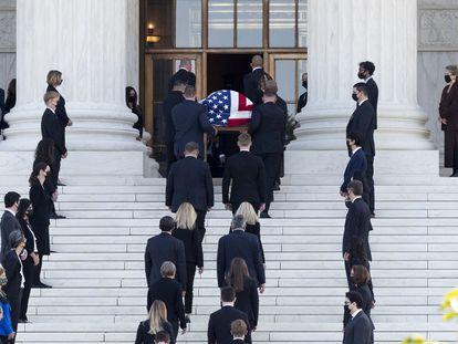 Honras fúnebres de la juez Ruth Bader Ginsburg en el Supremio de Estados Unidos.