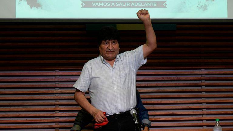 El expresidente boliviano Evo Morales, este lunes en Buenos Aires.