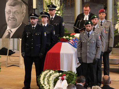 Imagen del funeral de Walter Lübcke, el político conservador presuntamente asesinado en su casa a principios de junio.