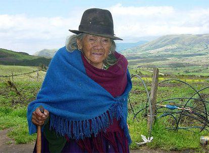 Tránsito Amaguaña, en una fotografía de noviembre de 2004.