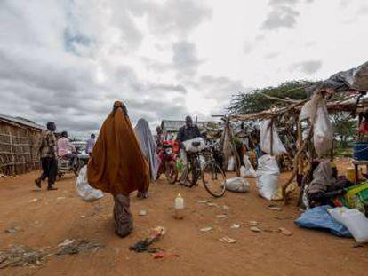 El mercado IFO1, en el campo de refugiados de Dadaab, Kenia.