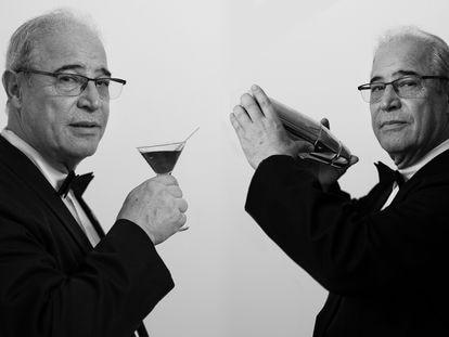 Jeronimo Vaquero, barman y propietario de la cocteleria Boadas, el pasado 21 de julio en Barcelona.