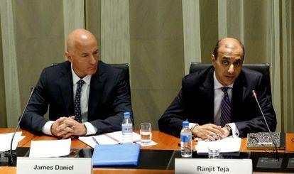 El jefe de la misión del FMI, James Daniel, en su última visita.