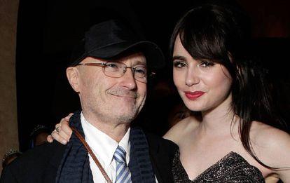 Phil y Lily Collins juntos en una foto de 2012.
