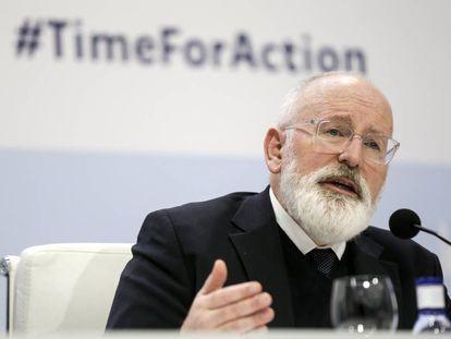 Frans Timmermans en la COP 25 en Madrid.