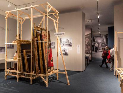 """""""¡El Museo en peligro!"""", exposición en el MNAC sobre la labor de salvaguarda y preservación de su patrimonio que emprendió al inicio de la Guerra Civil española."""
