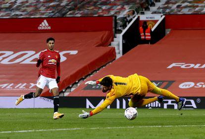Rashford marca el segundo gol del United.