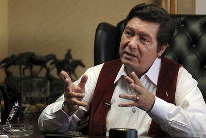 Jorge Hank Rhon, durante una entrevista con la agencia Associated Prees en Tikuana (Mexico), en junio de 2006.
