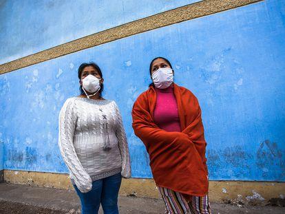 Mujeres trabajadoras en Lima, Perú.
