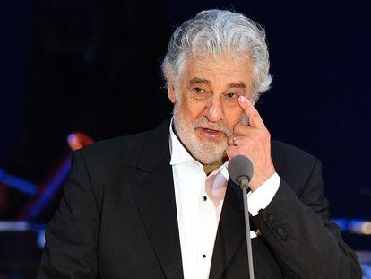 Plácido Domingo durante un concierto en Hungría en agosto de 2019.