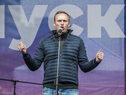 Alexéi Navalni, en una manifestación en 2019.