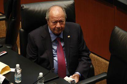 Carlos Romero Deschamps, durante una sesión en el Senado en 2013.