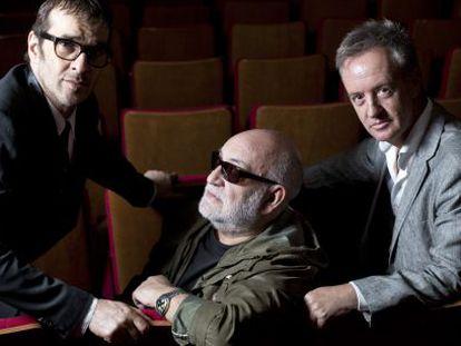 De izquierda a derecha, Luis Merlo, Gerardo Vera y Carlos Hipólito.