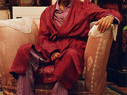 El escritor egipcio Naguib Mahfuz, premio Nobel de Literatura 1988.