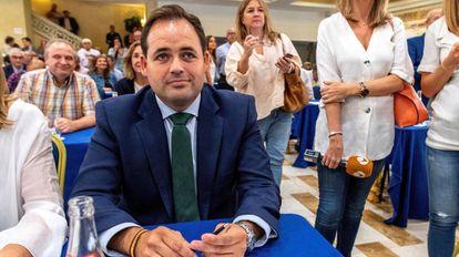 El presidente del PP de Albacete, Francisco Núñez, durante la Junta Directiva Regional del PP celebrada esta mañana en Toledo.