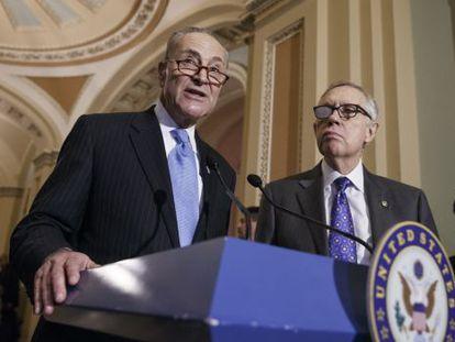 Schumer y Reid son los líderes demócratas del Senado