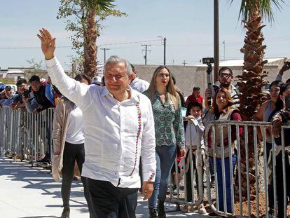 Andrés Manuel López Obrador, el año pasado, durante una gira de trabajo por el Estado de Sonora.