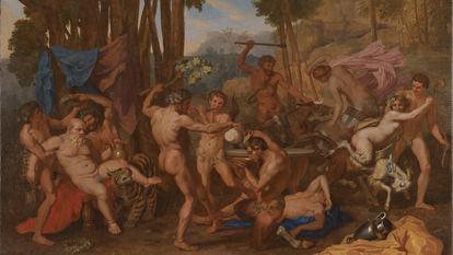'El triunfo de Sileno', lienzo de 142,9 por 120,5 centímetros, de Nicolas Poussin, realizado en torno a 1636.