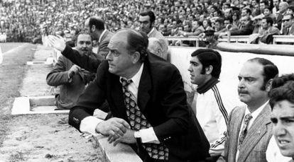Di Stéfano, como entrenador del Valencia, en 1971.