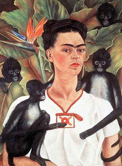 Autorretrato con monos, de Frida Kahlo.