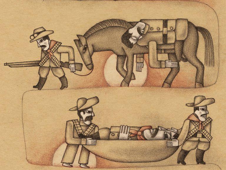 Ilustración de Alberto Gamón para el libro de John Reed 'México insurgente' (Nórdica), recién editado.