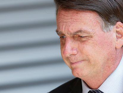 El presidente de Brasil, Jair Bolsonaro, durante una ceremonia en Brasilia, el pasado 5 de abril.
