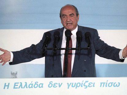 Konstantinos Mitsotakis, en 1993.