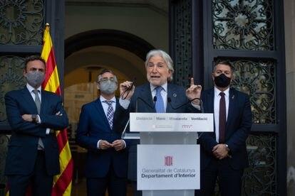 El presidente de Foment del Treball, Josep Sánchez Llibre, el pasado jueves en Barcelona.