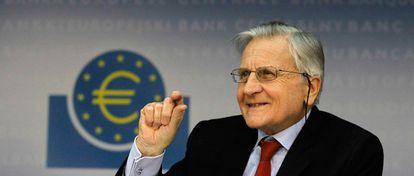 Jean-Claude Trichet, presidente del Banco Central Europeo, durante la rueda de prensa mensual celebrada en el cuartel general de Frankfurt.