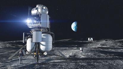 El proyecto de Blue Origin recuerda a los módulos lunares que llevaron a 12 astronautas hasta la Luna.