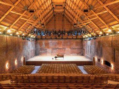 Sala de conciertos en The Maltings.